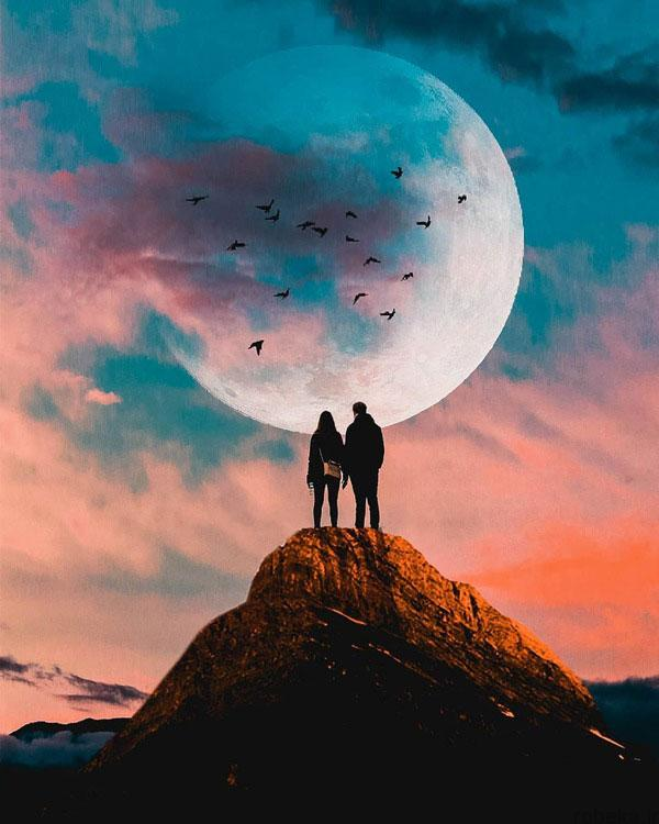 عکس عاشقانه دونفره خاص عکس عاشقانه دونفره بدون متن   عکس پروفایل دونفره  غمگین خفن