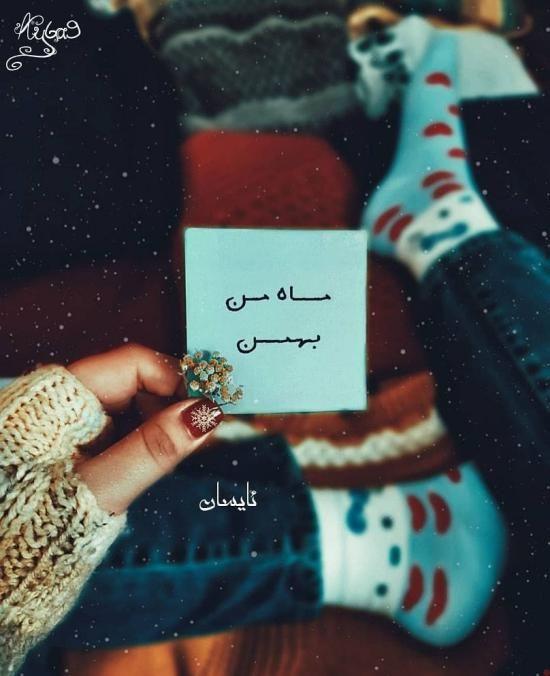 1611766608 robeka.ir عکس نوشته های من یه بهمن ماهی ام + متن برای متولدین بهمن ماه