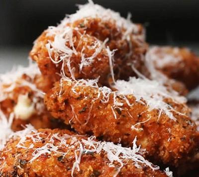لقمه های پنیری مرغ سوخاری طرز تهیه لقمه های پنیری مرغ سوخاری