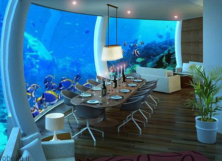 هتل پوزیدون 5 هتل پوزیدون از هتل های لوکس زیر آب