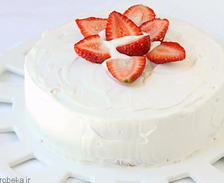 da a9 db 8c da a9  d8 a7 d8 b3 d9 81 d9 86 d8 ac db 8c 10 تزیین کیک اسفنجی با میوه