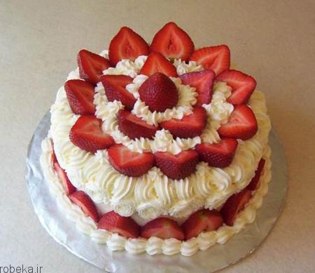 da a9 db 8c da a9  d8 a7 d8 b3 d9 81 d9 86 d8 ac db 8c 4 تزیین کیک اسفنجی با میوه
