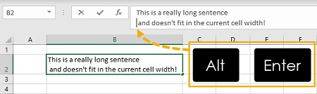 %name 3 روش برای بسته بندی متن (Wrap text) در اکسل