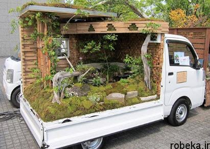 97 03 20enew790 طراحی باغ پشت کامیونهای ژاپنی (+تصاویر)