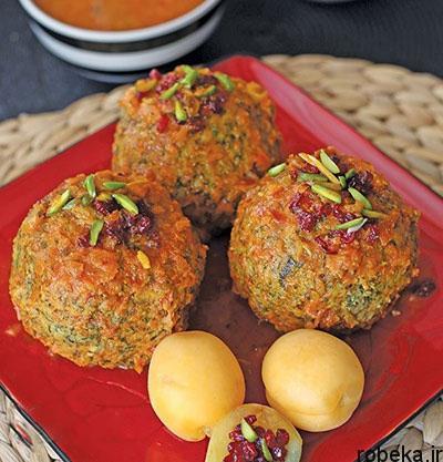 barberry1 apricot طرز تهیه کوفته زرشک و زردآلو