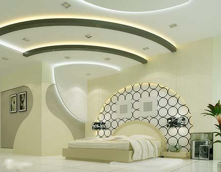 کناف اتاق خواب جدید , مدل کناف اتاق خواب دخترانه ,سقف اتاق خواب کلاسیک