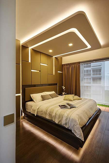 کناف اتاق خواب جدید , مدل کناف اتاق خواب دخترانه , سقف اتاق خواب کلاسیک