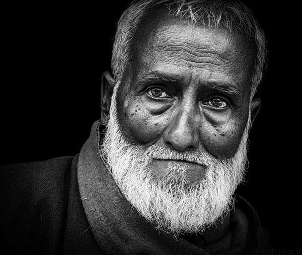 black white artistic portraits photos 10 عکس پرتره سیاه و سفید هنری از چهره های دخترانه و مردانه