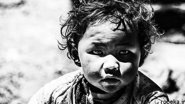 black white artistic portraits photos 12 عکس پرتره سیاه و سفید هنری از چهره های دخترانه و مردانه