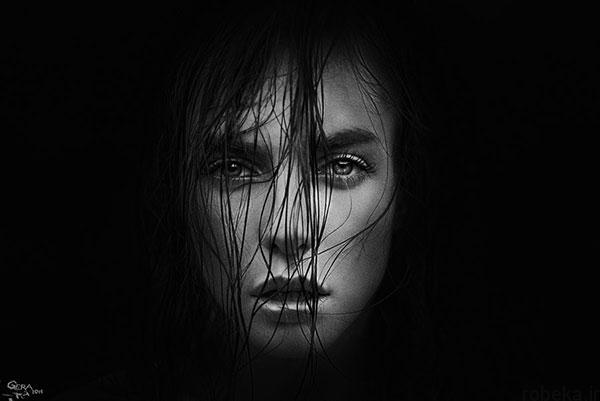 black white artistic portraits photos 2 عکس پرتره سیاه و سفید هنری از چهره های دخترانه و مردانه