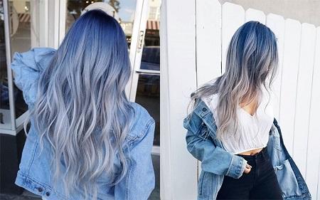 آموزش ترکیب رنگ مو آبی, رنگ مو آبی یخی, آموزش ترکیب رنگ مو آبی