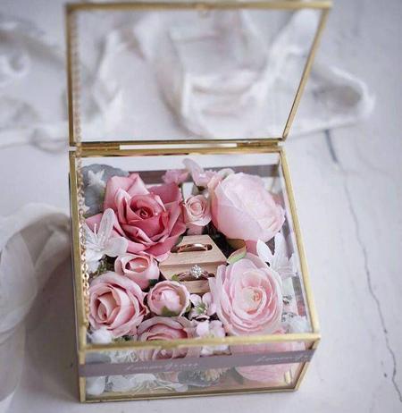 bride2 groom ring14 تزیین جا حلقه ای عروس و داماد