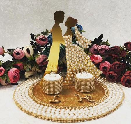 bride2 groom ring24 تزیین جا حلقه ای عروس و داماد