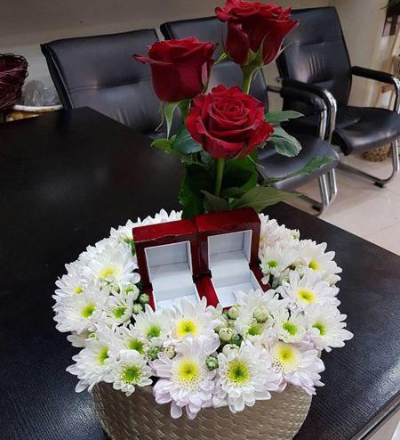 bride2 groom ring25 تزیین جا حلقه ای عروس و داماد