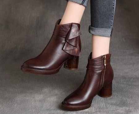brown1 boot2 model7 مدل بوت و نیم بوت قهوه ای