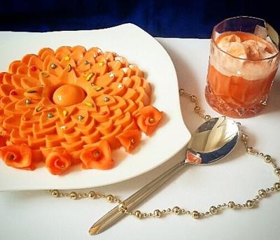carrot ice cream dessert طرز تهیه دسر هویج بستنی