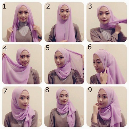 close2 lebanese3 scarf11 آموزش بستن روسری لبنانی