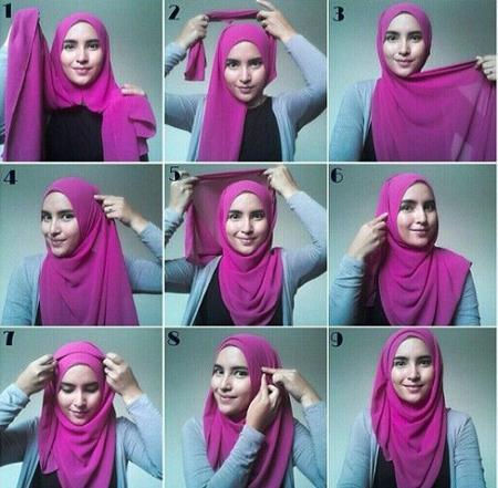 close2 lebanese3 scarf4 آموزش بستن روسری لبنانی