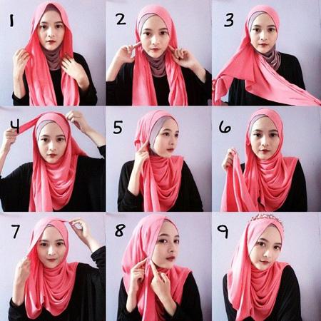 close2 lebanese3 scarf8 آموزش بستن روسری لبنانی
