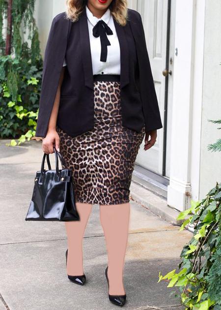 coats1 skirts2 obese1 مدل کت و دامن برای افراد چاق