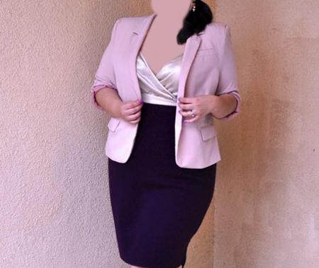 coats1 skirts2 obese4 مدل کت و دامن برای افراد چاق