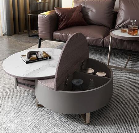 میز قهوه خوری پایه فلزی,شیک ترین مدل های میز قهوه خوری,دکوراسیون میزهای قهوه خوری