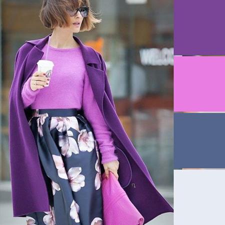 رنگ بنفش مناسب زمستان,ترکیب رنگ های فصل های سرد