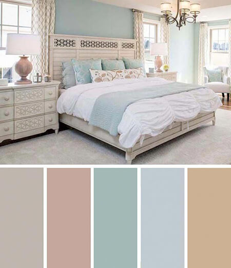 color1 room4 بهترین رنگ اتاق خواب