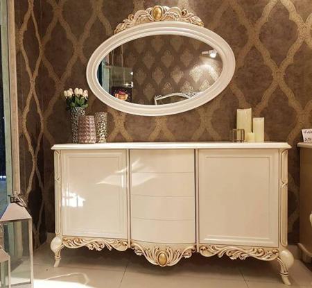 آینه کنسول چوبی, میز و آینه کنسول شیک
