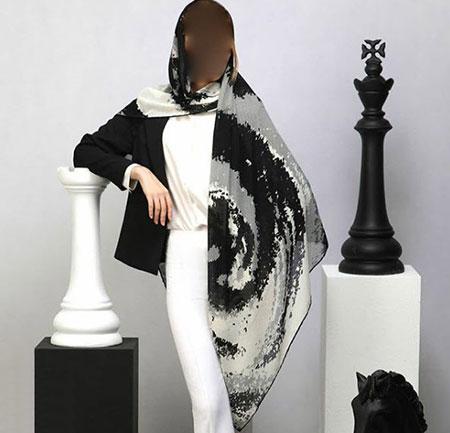 مدل روسری نخی گلدار, روسری نخی زنانه