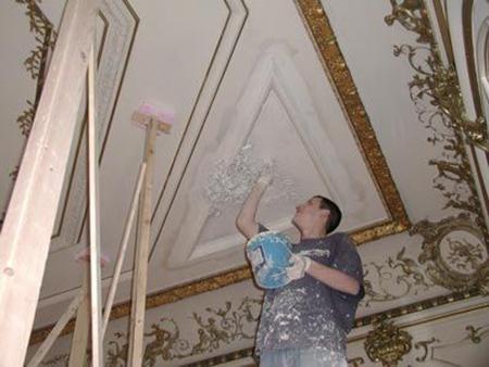 عکس هایی از گچ بری سقف خانه,گچ بری و مقرنس کاری
