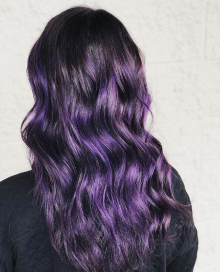 %name انواع فرمول رنگ مو بنفش + ست لباس و آرایش با رنگ مو بنفش