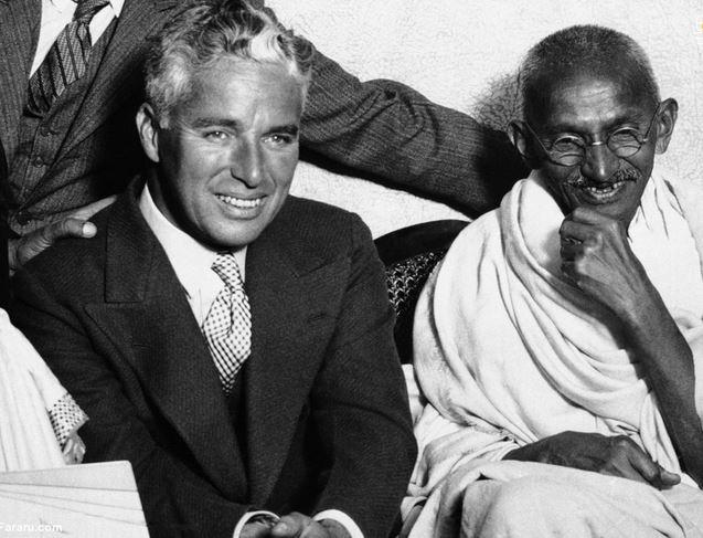 %name (تصاویر) از دیدار گاندی با چارلی چاپلین تا خودسوزی یک بودایی