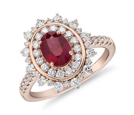 مدل انگشتر یاقوت زنانه, جدیدترین مدل های انگشتر یاقوت زنانه, انگشترهای یاقوت شیک زنانه