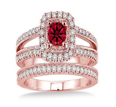 انگشترهای یاقوت شیک زنانه, مدل های انگشترهای شیک زنانه, انگشتر با سنگ یاقوت