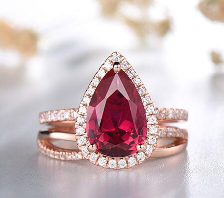 انگشترهای شیک یاقوت, مدل انگشتر یاقوت زنانه, جدیدترین مدل های انگشتر یاقوت زنانه