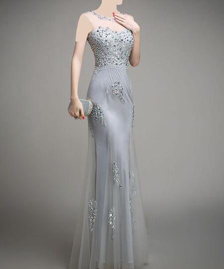 لباس های شب نقره ای شیک, جدیدترین لباس های شب نقره ای, مدلهای لباس شب نقره ای