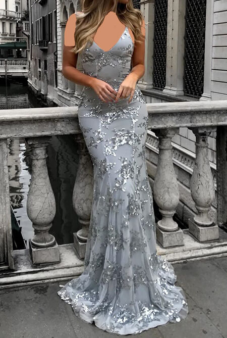 شیک ترین مدل لباس شب نقره ای, جدیدترین مدل های لباس شب نقره ای, مدل های لباس شب نقره ای