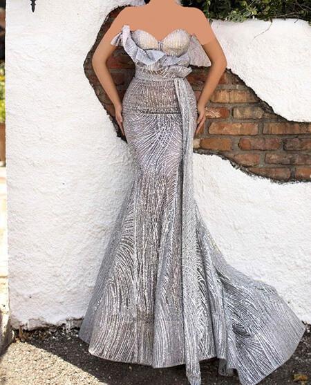 طرح های شیک مدل لباس شب نقره ای, مدل های شیک لباس شب نقره ای, مدل لباس مجلسی نقره ای