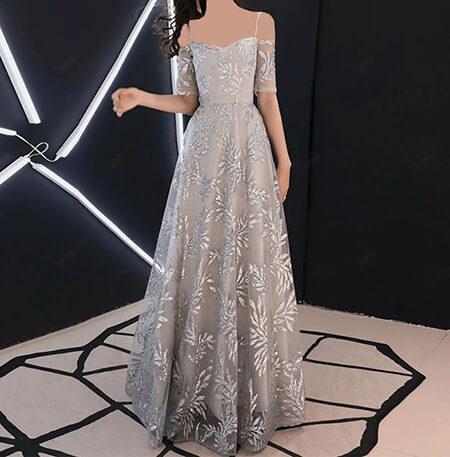 جدیدترین مدل های لباس شب نقره ای, مدل های لباس شب نقره ای, مدل لباس شب نقره ای شیک