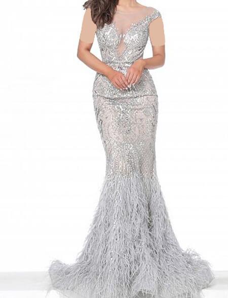 جدیدترین مدل لباس شب نقره ای, لباس های شب نقره ای, شیک ترین مدل لباس شب نقره ای