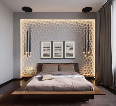 %name طراحی و دکوراسیون دیوار پشت تخت