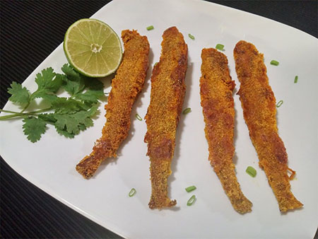 طرز درست کردن ماهی حسون, ماهی حسون کریشو, سوخاری کردن ماهی حسون