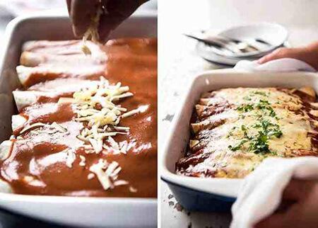طرز درست کردن گوشت آنچیلادا, نحوه ی درست کردن گوشت آنچیلادا, مواد لازم برای تهیه ی گوشت آنچیلادا
