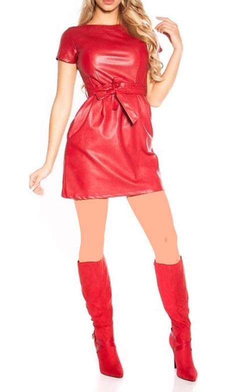 بلوز شلوار مجلسی چرم, لباس مجلسی چرم زنانه با گیپور, مدل لباس مجلسی چرم