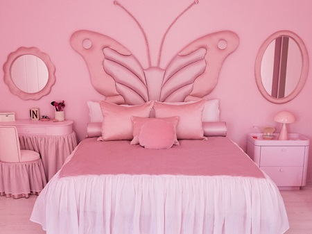 اتاق خواب صورتی مدرن, اتاق خواب صورتی, مدل ا دکوراسیون اتاق خواب صورتی