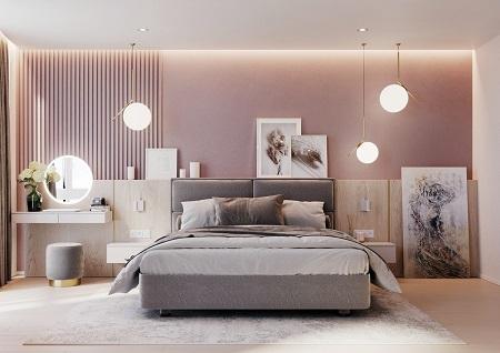 اتاق خواب صورتی مدرن, اتاق خواب صورتی, مدل های دکوراسیون اتاق خواب صورتی