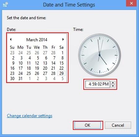 نحوه تنظیم ساعت و تاریخ, تنظیم ساعت و تاریخ کامپیوتر, تنظیم ساعت ویندوز