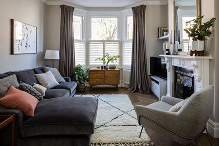 فضای نشیمن خانه, طراحی فضای نشیمن در خانه, انواع نشیمن های کنار پنجره