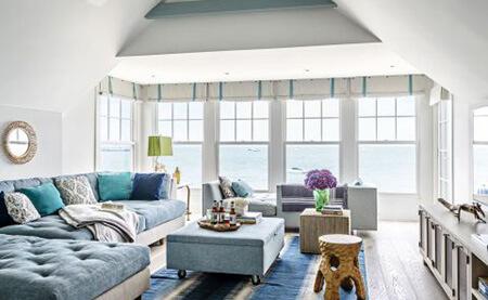 دکوراسیون نشیمن زیر پنجره,طراحی فضای نشیمن در خانه,دکوراسیون و چیدمان نشیمن کنار پنجره